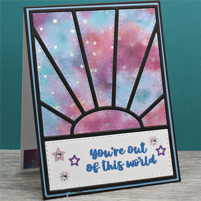 Sunshine Background Panel Cover Metal Cutting Dies Clear Stamps for Craft Scrapbooking Embossing New 2019 Card Making in Cutting Dies from Home Garden