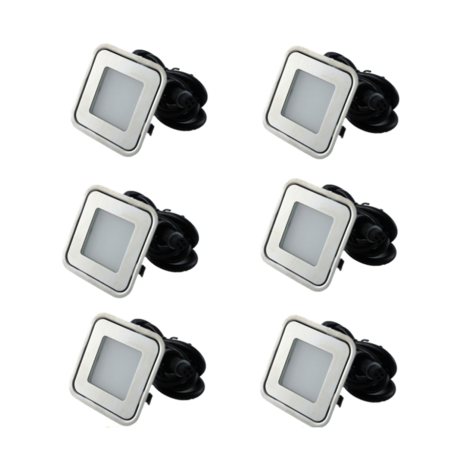 Led Underground Lamps Lights & Lighting Bright 6pcs/lots Stainless Steel Led Step Lamps 0.6w/0.9w Led Buried Lighting Used For Porch/footstep/square/building Dc12v