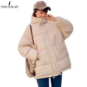 Image 3 - Pinkyisblack 2020 Mode Plus Size 2XL Down Jassen Vrouwen Winter Jas Korte Thicken Warm Katoen Gevoerde Winter Jas Vrouwen Jas