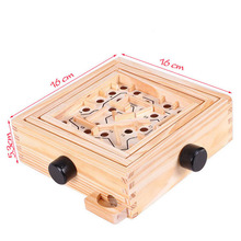 Wooden Ball Maze Game Baby Hand Eye Coordination Child Adult Old Leisure Intellectual Children's Educational Toys children s wooden balance game maze toys kids educational toys baby toys 2 10 years old