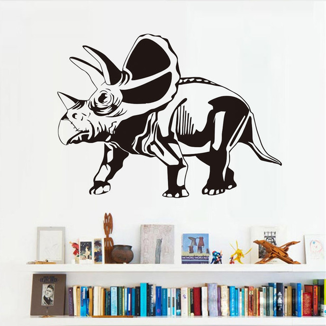 DCTOP Torosaurus Home Decor Dinosaurs Wall Sticker Vinyl Removable Wall  Mural Decorative Funny Decal Bedroom For