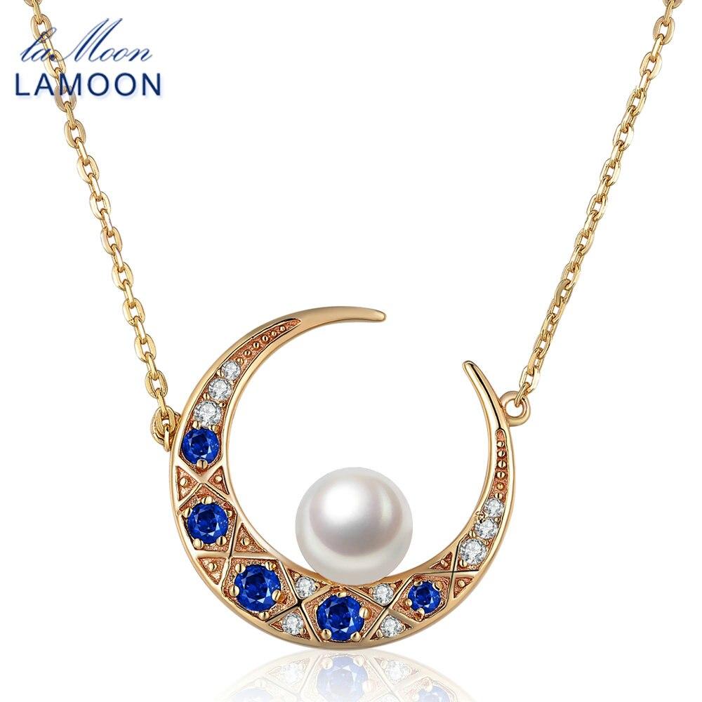 LAMOON speciale maan ontwerp hanger ketting voor vrouwen natuurlijke - Fijne sieraden