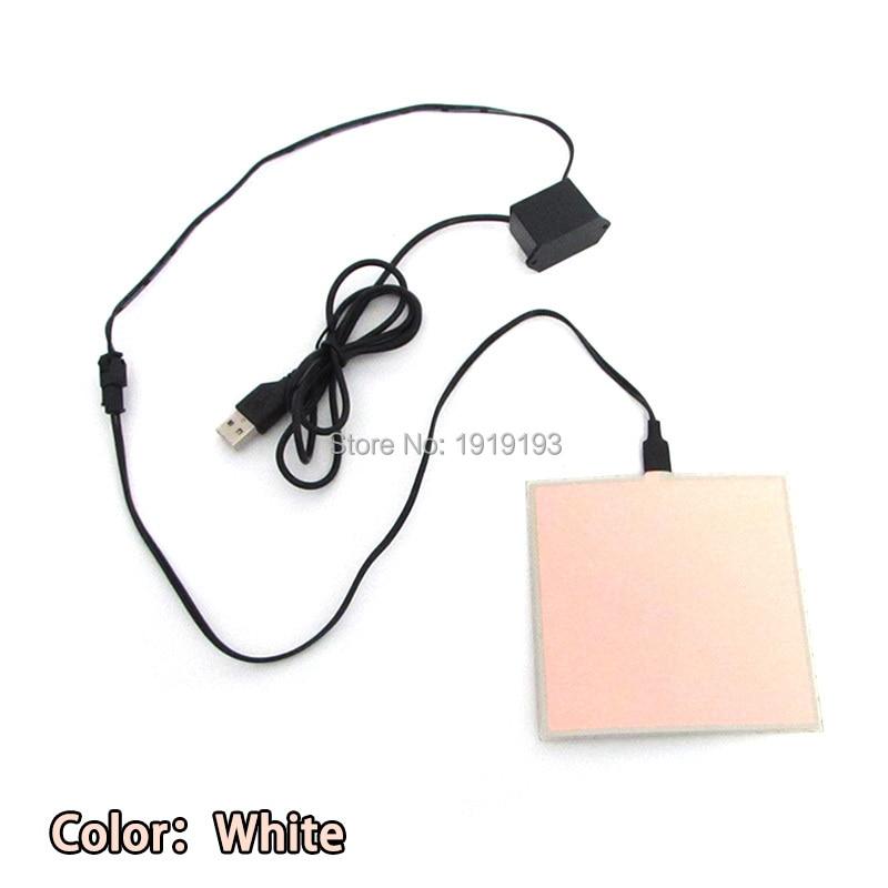 1PCS 6 färg 10X10CM EL-ark LED EL Panel av DC5V USB-drivrutin för - Festlig belysning - Foto 3