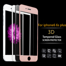 3D Curved Hard edge Full Cover Screen Protector for iPhone 6 7 8 plus Tempered glass film for iPhone 7 glass protective on cell
