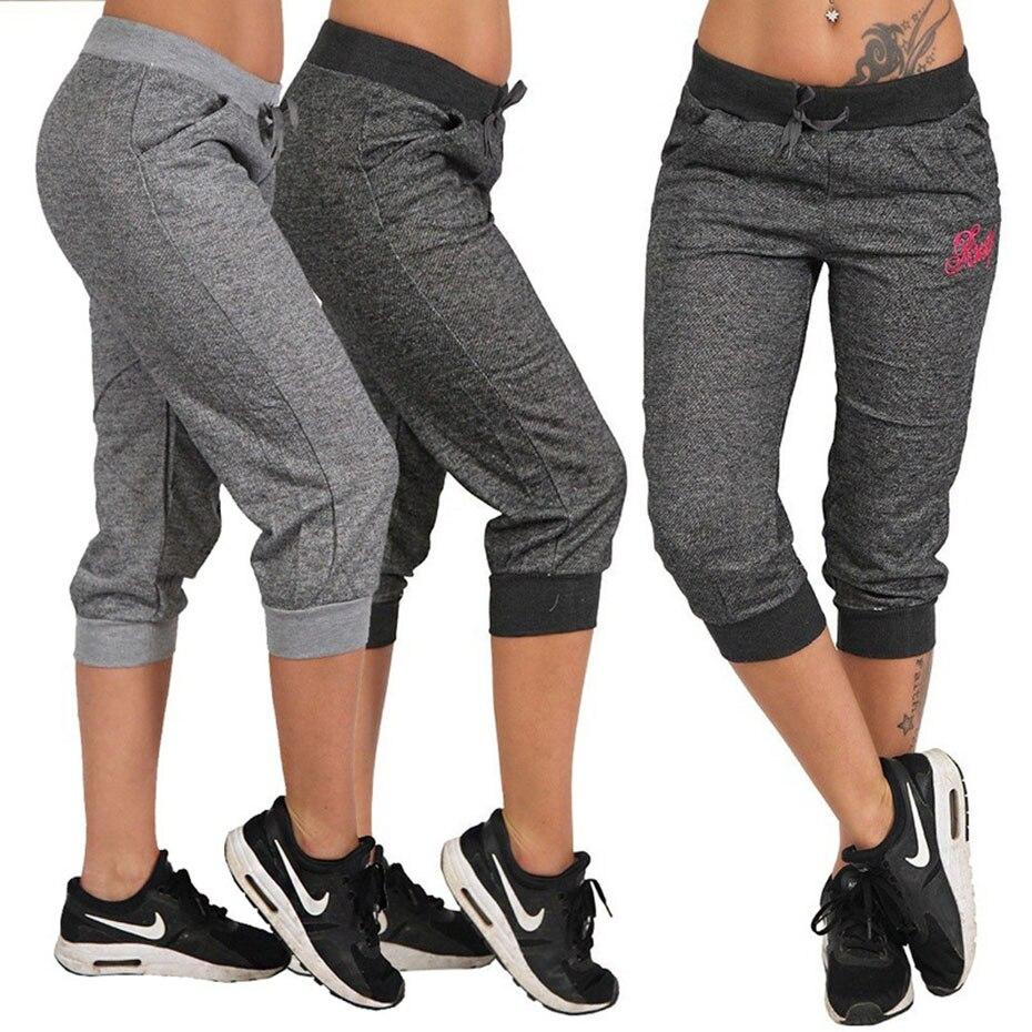 ZOGAA 2019 New Fashion Women Summer Pants Women Trousers Hoody Pants Mid Waist Capri Pants Calf-Length Pants Pockets S-XXXL