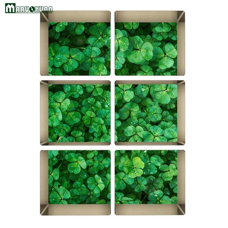 maruoxuan 3d grne pflanze clover aufkleber personalisierte bad toiletten wandaufkleber wasserdicht dekorative badezimmer wandtattooschina - Badezimmer Grn