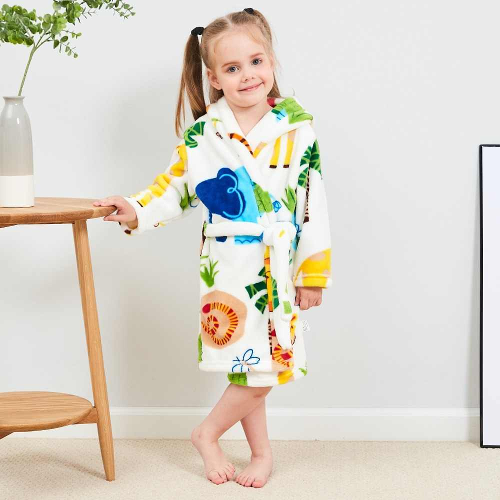 9127843fd Detail Feedback Questions about Unisex Children s Flannel Bathrobes ...