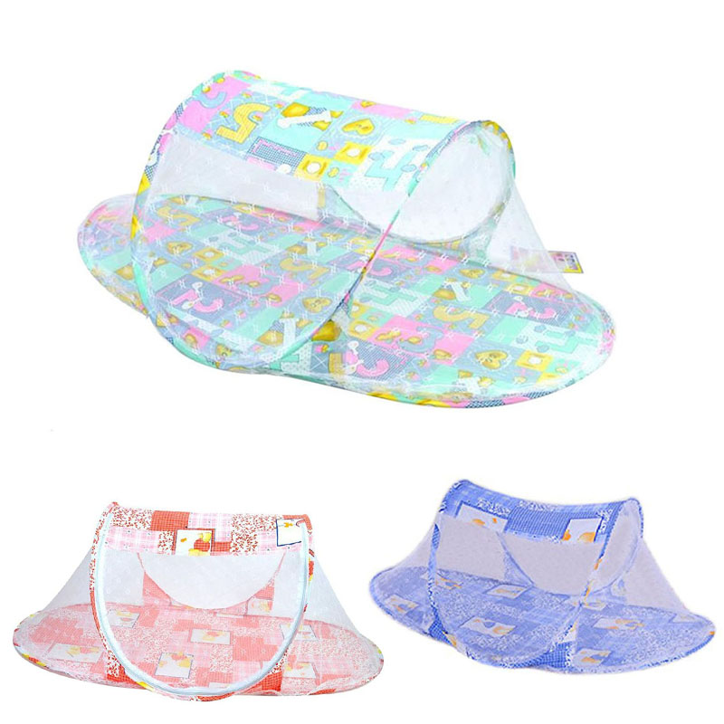 Summer Hot Portable Baby Bed Folding Mosquito Net Cushion Mattress Infants Mosquito Polyester Mesh Netting Cribs Sale LXY9 DE17