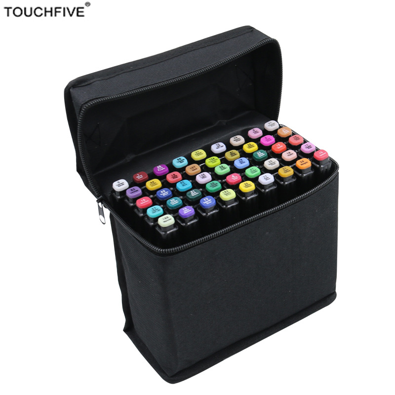 Touchfive 40/60/80 Color Art Marker Sketch Marker Artist Dual Head Art Markers Set For Artist Drawing Fashion Design Marker touchfive 30 40 60 80 colors artist painting art marker pen head oil art sketch markers set designers school supplies