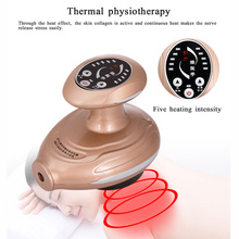 Heating negative pressure magnetic wave therapy device body brush scraping suction dredge massage