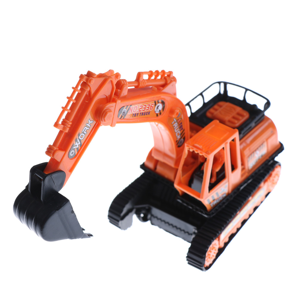 1Pcs Big Size Plastic Excavator Model High Simulation Orange Engineering Digging Machine Toys For Kids Children