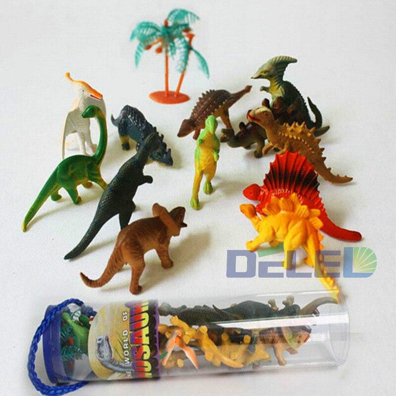 Free Shipping 12 Pcs Dinosaur Jurassic Park World Dinosaur Toy font b Action b font font
