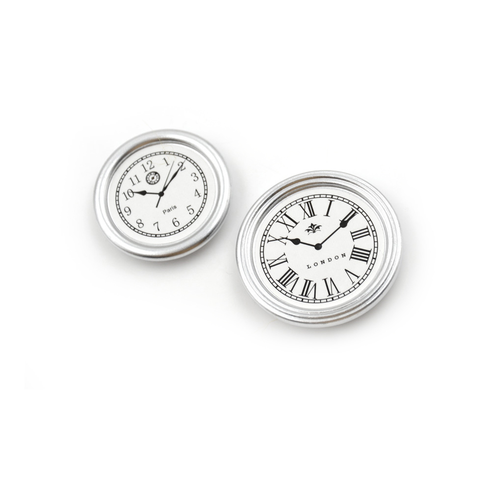 Furniture Toys 2pcs/set Living Room A Silver Wall C Lock Diameter 3.1cm /3.8cm Dollhouse Miniature Toy Customers First Pretend Play