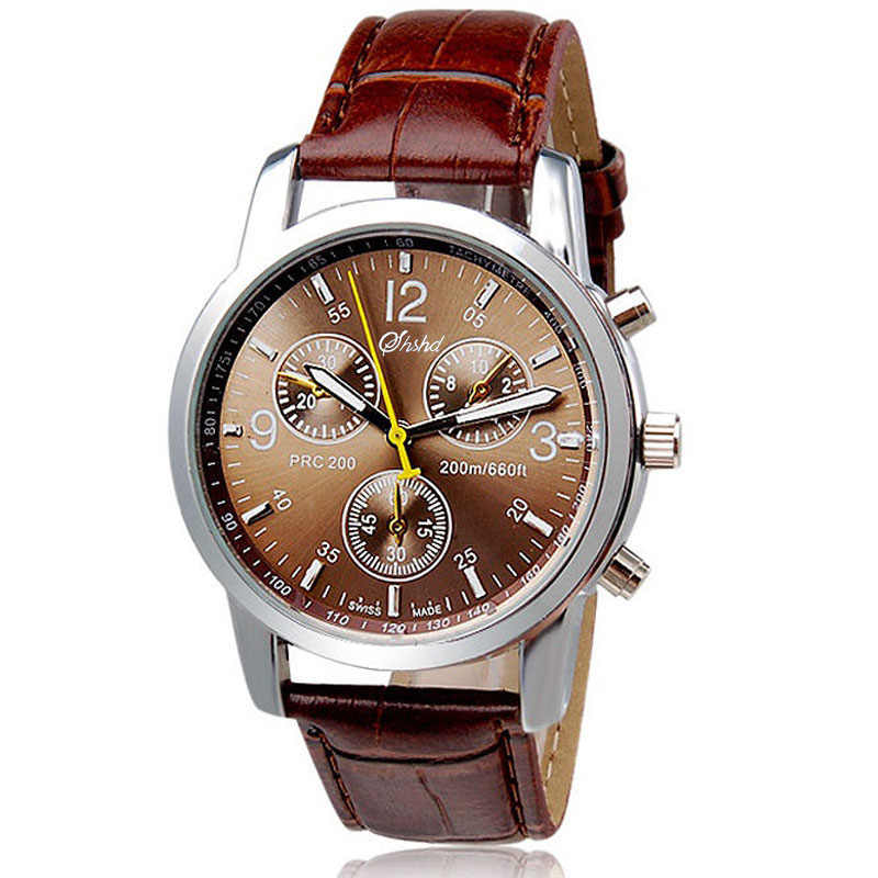 2018 Newest Three Eye Men's watches Men Busines Watch Retro design Male Clock Leather Band Quartz Wristwatches Relogio masculino