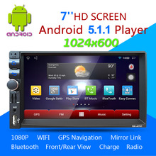 New 1028 * 600 Car DVD GPS Player Capacitive HD Touch Screen Radio Stereo 8G / 16G iNAND Rear View Camera Parking Android 5.1.1