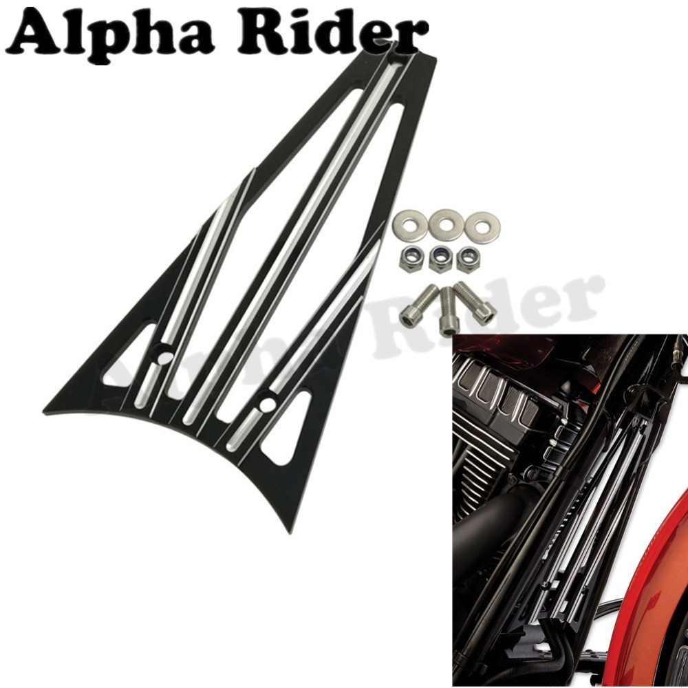 CNC Deep Cut Frame Grill Engine Guard Grille Cover for Harley Touring Street Electra Tri Glide Road King Trike Freewheeler 14-17