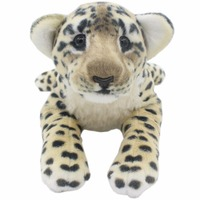 JESONN Realistic Stuffed Animals Leopard Tiger Lion Panther Plush Toys Cheetah Pillows for Children's Birthday Gifts