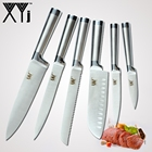 XYj Kitchen Knives Set One Piece 7cr17 Stainless Steel Structure Knives Fruit Utility Santoku Chef Slicing Bread Cooking Knife