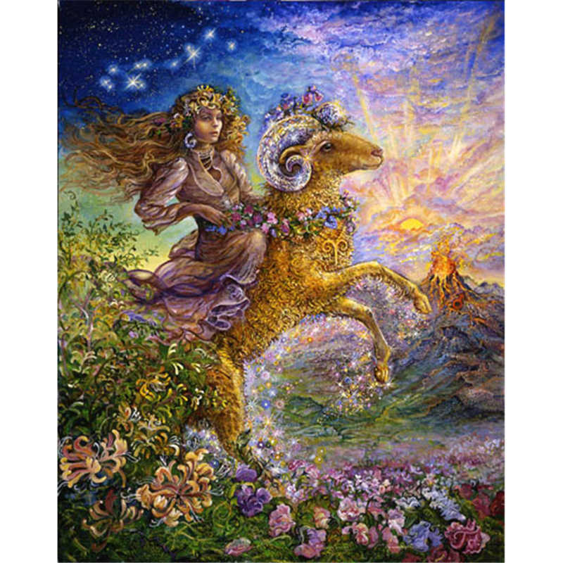 Fantasy Aries Diy diamond painting square drill rhinestone pasted painting cross stitch rhinestone crafts Needlework A5602R