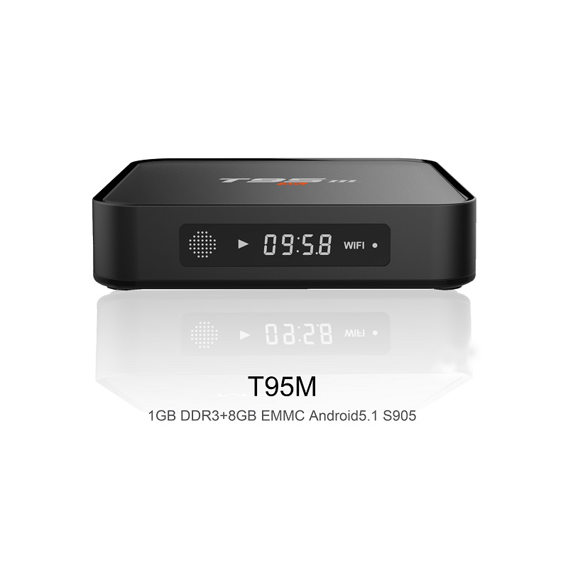 T95M Android 7.1 TV Box 1 GB DDR4 RAM 8 GB ROM WiFi 2,4G Android Set Top TV Box 4 K Media Player