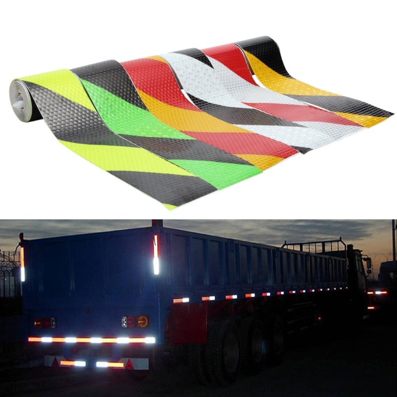 Luxury PVC Safety Reflective Warning Tape Conspicuity Film Sticker Multicolor 3M цены