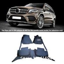 Для Mercedes-Benz gls класса 2016 2017 интерьер пользовательские стайлинга автомобилей спереди и сзади Коврики ковры полное покрытие Интимные аксессуары