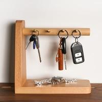 Nordic creative solid brass key hook Para colgar las llaves Console desktop key storage ornaments rack elephant key holder