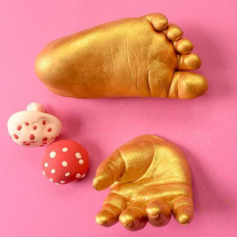Забавные 3D штукатурка отпечатками на пальцах для маленьких детей и взрослых ручной ног литой набор Keepsake детей DIY ToyRamadan фестиваль подарок