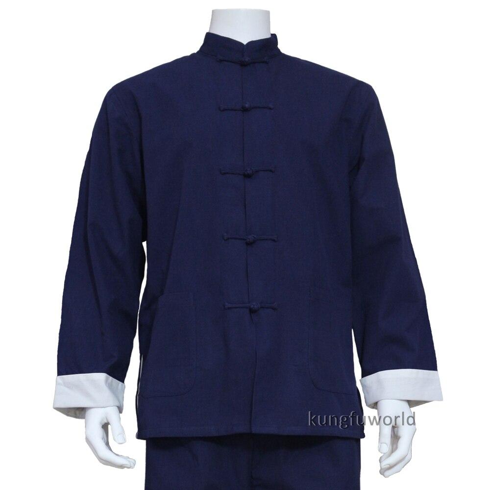 100% coton épais chinois Tai Chi Kung fu veste Shaolin moine arts martiaux aile Chun costume