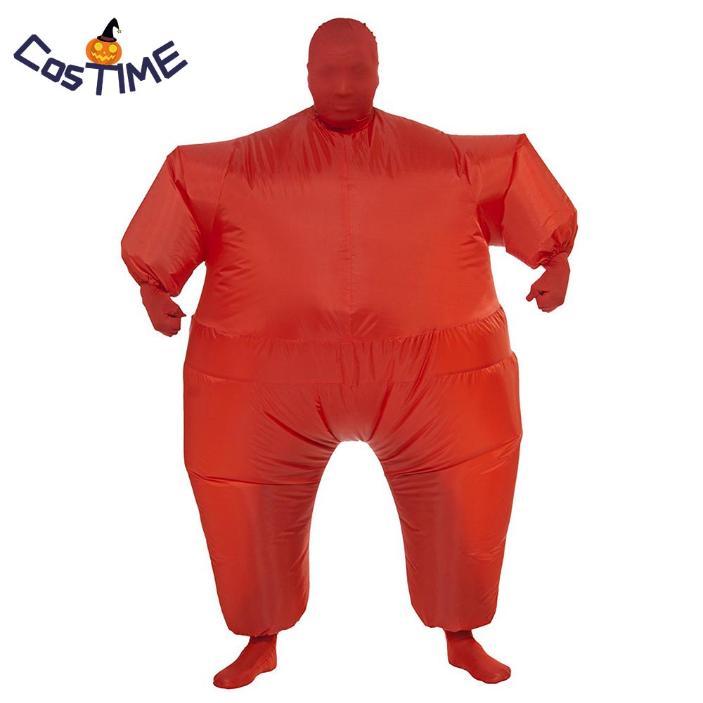 Adult Chub Suit Inflatable Blow Up Unicolor Full Body Inflatable Costume Jumpsuit Mascot Halloween Party Fancy Dress Fat Suit