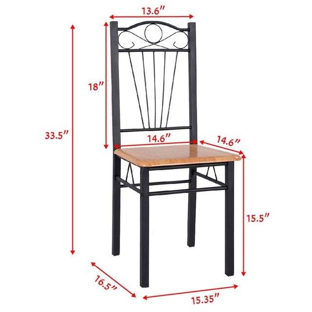 Steel Frame Dining Chairs Kitchen Modern Furniture Bistro Wood New