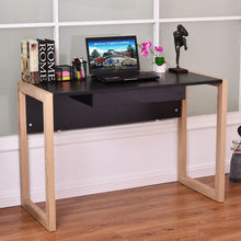 Giantex Modern Computer Desk PC Laptop Table Wood Writing Workstation with Drawer Home Office Furniture HW54479