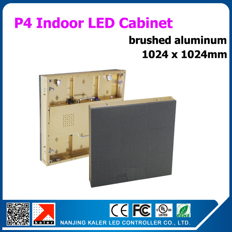 TEEHO 1024x1024mm Indoor P4 Led Cabinet 2121SMD Indoor Video Led Display Board Wedding Meeting Business Advertising Billboard