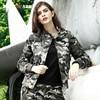Autumn Fashion 2017 Women S Bomber Jacket Winter Army Green Pocket Military Camo Jacket Three Colors