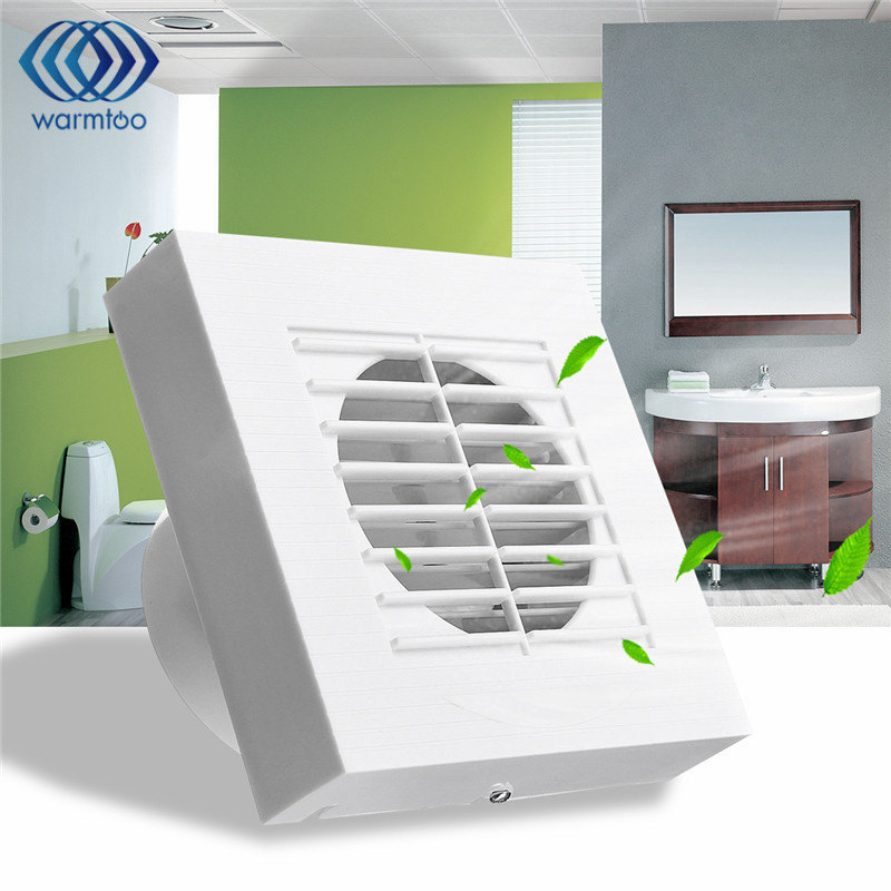 12W 4inch Ventilation Exhaust Fan Bathroom Ceiling Wall Mount Blower Window Wall Kitchen Toilet Bath Fan Hole Size 100x100mm