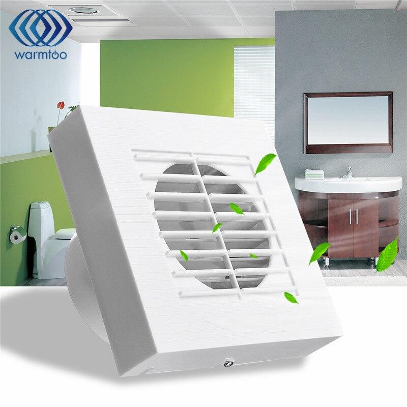 4 Ventilador de Pared para Ventilaci/ón de Cocina y Ba/ño Ventilador Extractor de Ba/ño 12W Ventilador Extractor de Pared Silencioso