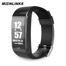 Moonlinks CK18 smart bracelet blood pressure measurement smart band 2018 heart rate smartband smart watch orologi