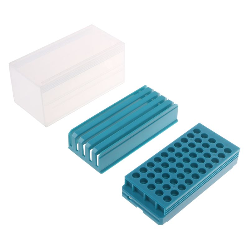 Plastic Drill Bit Storage Box With Foam 50pcs Milling Cutters Holder Case For Milling Machine