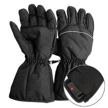 1 пара водостойкие перчатки с подогревом батарея питание для мотоцикла Охота зимние теплые (без батареи)