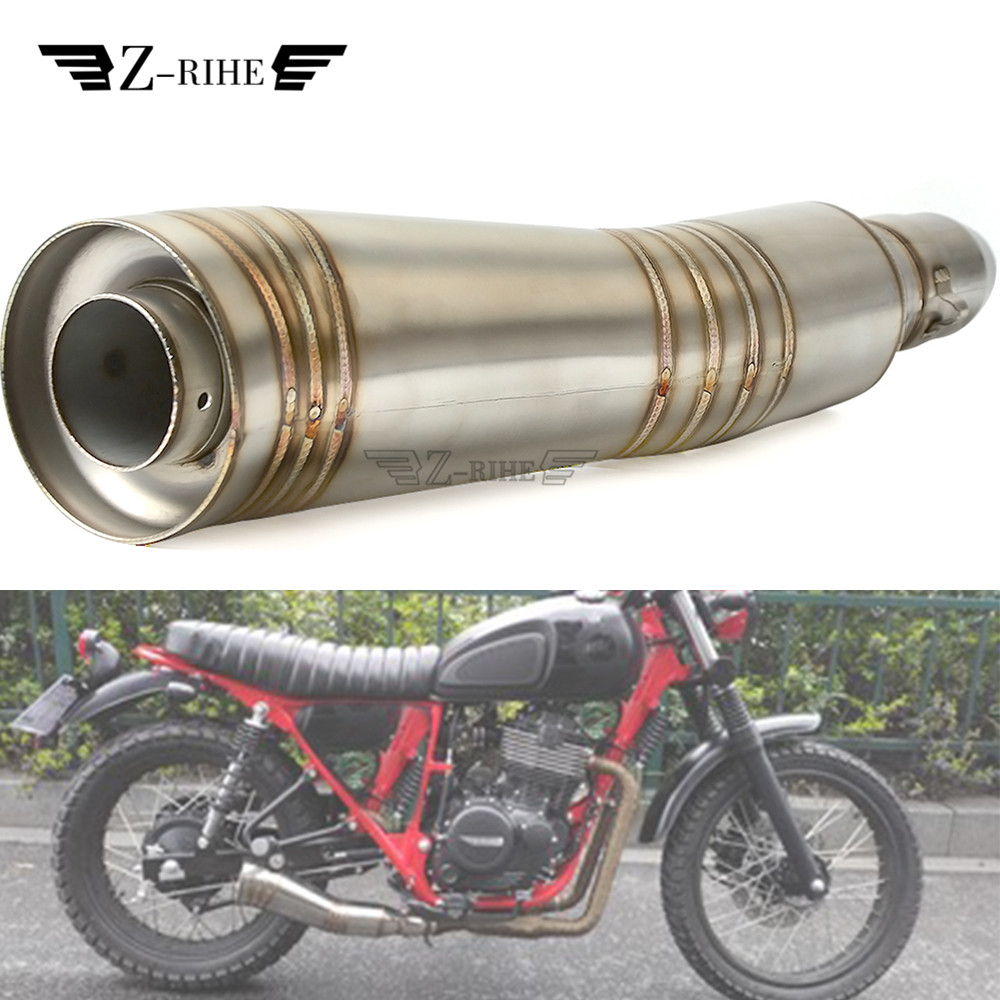 36-51mm Universal Motorcycle Exhaust Pipe Muffler tube escape moto exhaust For KAWASAKI ZXR250 ZXR400 ZZR400 ZZR600 ZX10 image