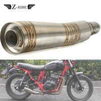 36 51mm Universal Motorcycle Exhaust Pipe Muffler tube escape moto exhaust For KAWASAKI ZXR250 ZXR400 ZZR400 ZZR600 ZX10