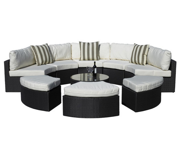 sigma garden furniture synthetic rattan set 9 piece outdoor daybed garden furniture day bed