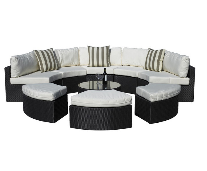 €728.21 |Sigma salon de jardin en rotin synthétique ensemble lit de repos  extérieur 9 pièces-in Chaises longues from Meubles on AliExpress