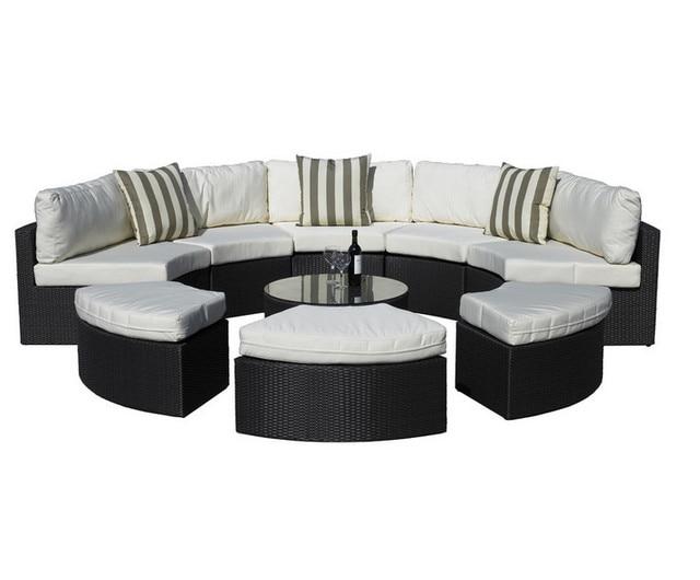 € 682.09 5% de réduction|Sigma salon de jardin en rotin synthétique  ensemble lit de repos extérieur 9 pièces dans Chaises longues de Meubles  sur ...