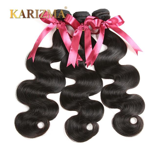 Brasileira onda do corpo do cabelo virgem não processado brasileiro virgem cabelo 3 bundles cabelo humano ondulado tece karizma brasileiro da onda do corpo