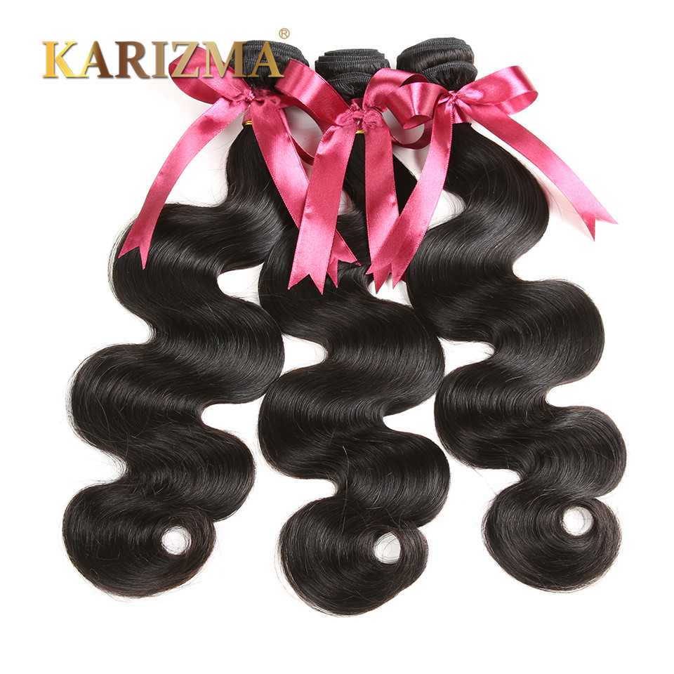 Brazilian Virgin Hair Body Wave Unprocessed Virgin Brazilian Hair 3 Bundles Human Hair Wavy Weaves Karizma Brazilian Body Wave