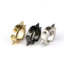 Punk Titanium Sterling Steeling Spike Circle Ear Cuff Clip On Earrings For Women Without Puncture Fashion Jewelry 2018 1 Pairs
