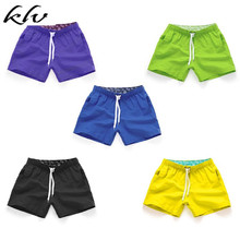 Men Summer Bright Solid Color Swim Trunks Mid Rise Drawstring Beach Board Shorts Quick Dry Sport Surfing Short Pants With Pocket