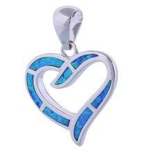 hot deal buy garilina love heart jewelry 925 sterling silver jewelry fashion jewelry blue fire opal pendant fine jewelry p286