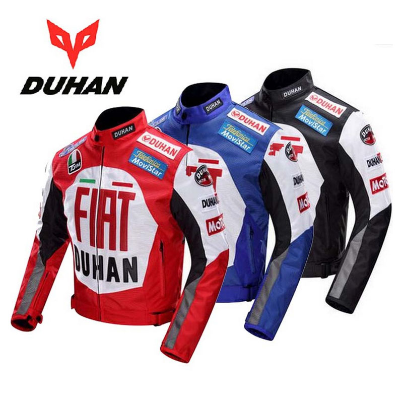 600D Oxford DUHAN veste de moto avec équipement de protection Motobiker vestes moto vêtements d'équitation M L XL XXL noir rouge bleu